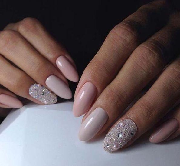 30 Glam Wedding Nail Art for Bride Ideas 5