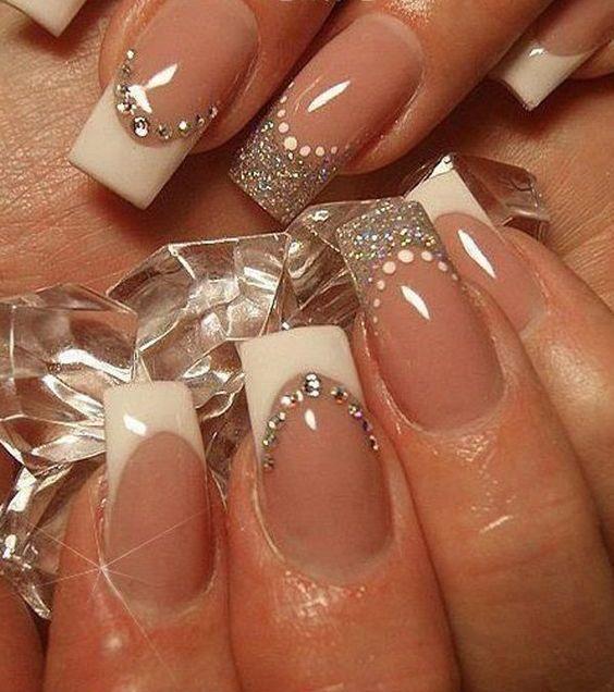 30 Glam Wedding Nail Art for Bride Ideas 6