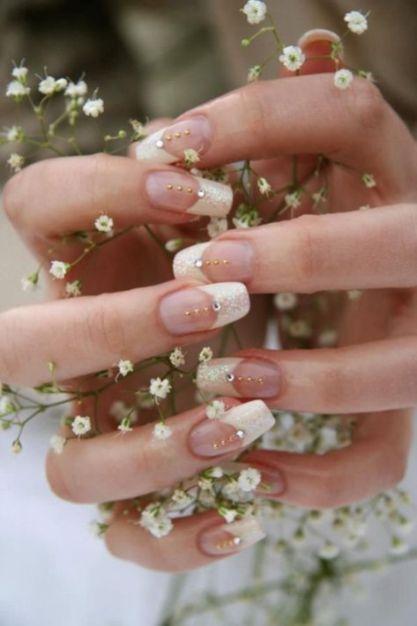 30 Glam Wedding Nail Art for Bride Ideas 8