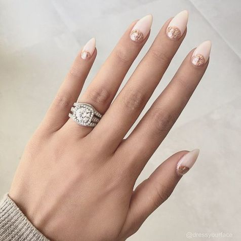 30 Glam Wedding Nail Art for Bride Ideas 9