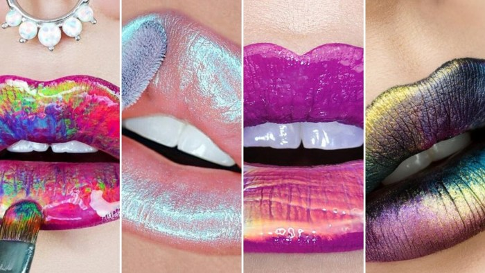 30 Holographic Lips Ideas