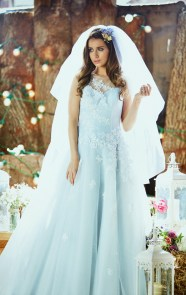30 Soft Color Look Bridal Dresses Ideas 14