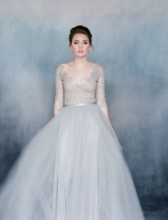 30 Soft Color Look Bridal Dresses Ideas 35