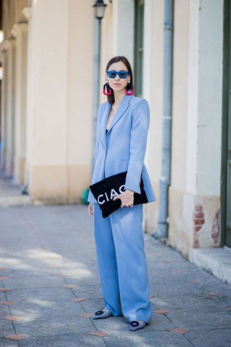40 All Blue Outfits Street Styles Ideas 13