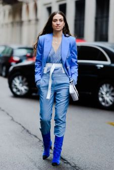 40 All Blue Outfits Street Styles Ideas 23