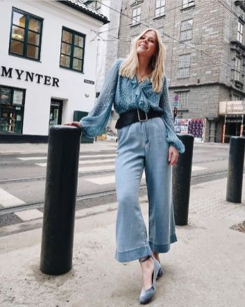 40 All Blue Outfits Street Styles Ideas 31