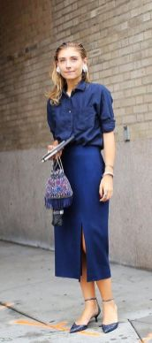 40 All Blue Outfits Street Styles Ideas 36