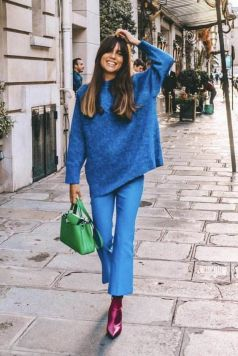 40 All Blue Outfits Street Styles Ideas 43