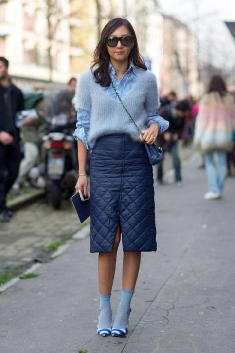 40 All Blue Outfits Street Styles Ideas 45