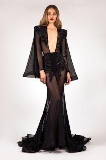 40 Black Mesh Long Dresses Ideas 1