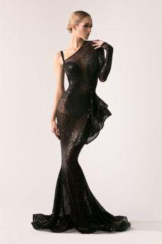 40 Black Mesh Long Dresses Ideas 14