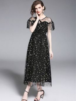 40 Black Mesh Long Dresses Ideas 16