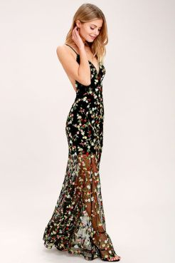40 Black Mesh Long Dresses Ideas 25