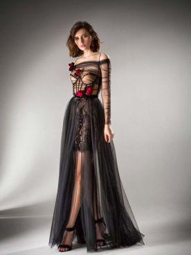 40 Black Mesh Long Dresses Ideas 31