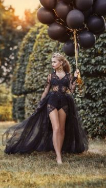 40 Black Mesh Long Dresses Ideas 32