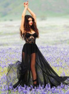 40 Black Mesh Long Dresses Ideas 5