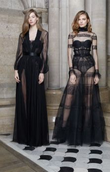 40 Black Mesh Long Dresses Ideas 7