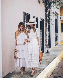 40 How to Wear Tea Lengh Dresses Street Style Ideas 27