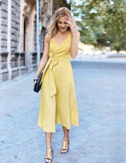40 How to Wear Tea Lengh Dresses Street Style Ideas 28
