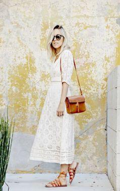 40 How to Wear Tea Lengh Dresses Street Style Ideas 30