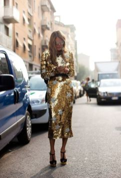 40 How to Wear Tea Lengh Dresses Street Style Ideas 33