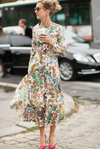 40 How to Wear Tea Lengh Dresses Street Style Ideas 4