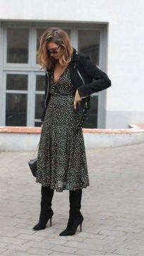40 How to Wear Tea Lengh Dresses Street Style Ideas 7