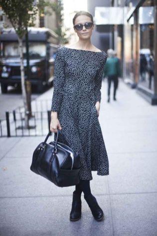 40 How to Wear Tea Lengh Dresses Street Style Ideas 9