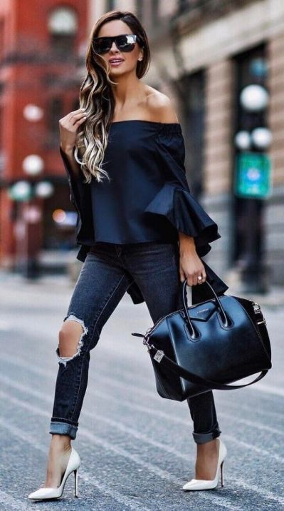 40 Ways to Look Stylish With White Heels Ideas 38