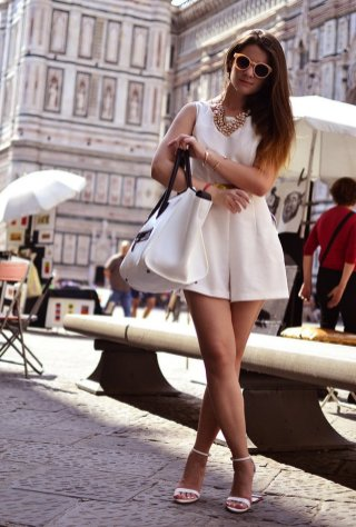 40 Ways to Look Stylish With White Heels Ideas 44
