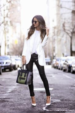 40 Ways to Look Stylish With White Heels Ideas 46