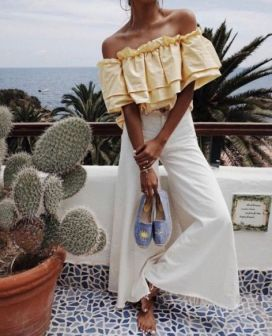 40 Ways to Wear Palazzo Pants for Summer Ideas 4