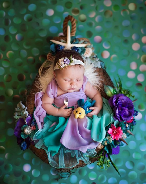 50 Cute Newborn Photos for Baby Girl Ideas 54
