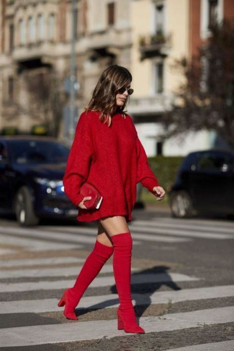 50 Fashionable Red Outfit Ideas 23