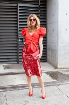 50 Fashionable Red Outfit Ideas 27