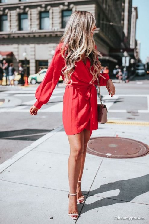 50 Fashionable Red Outfit Ideas 35