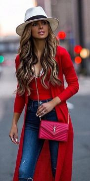 50 Fashionable Red Outfit Ideas 44