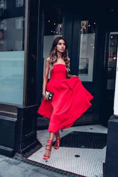 50 Fashionable Red Outfit Ideas 52