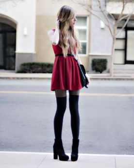 50 Fashionable Red Outfit Ideas 8
