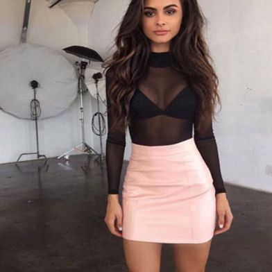 50 How to Wear Black Mesh Tops in Style Ideas 33