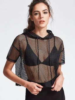 50 How to Wear Black Mesh Tops in Style Ideas 53