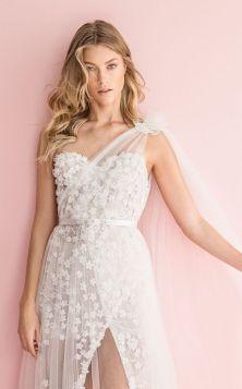 50 One Shoulder Bridal Dresses Ideas 1