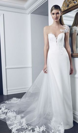 50 One Shoulder Bridal Dresses Ideas 16