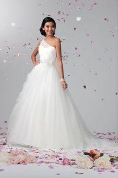 50 One Shoulder Bridal Dresses Ideas 19