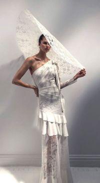 50 One Shoulder Bridal Dresses Ideas 29