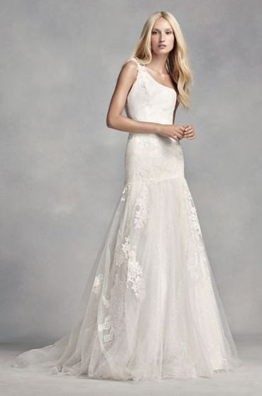 50 One Shoulder Bridal Dresses Ideas 30