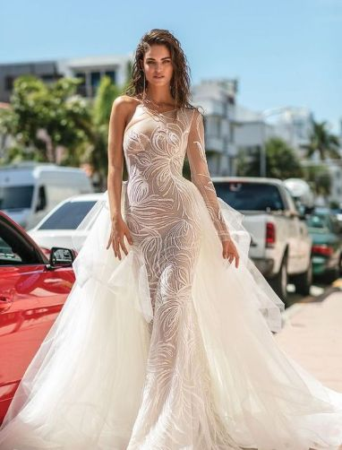 50 One Shoulder Bridal Dresses Ideas 31