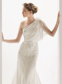 50 One Shoulder Bridal Dresses Ideas 34