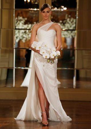 50 One Shoulder Bridal Dresses Ideas 35
