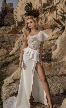 50 One Shoulder Bridal Dresses Ideas 42